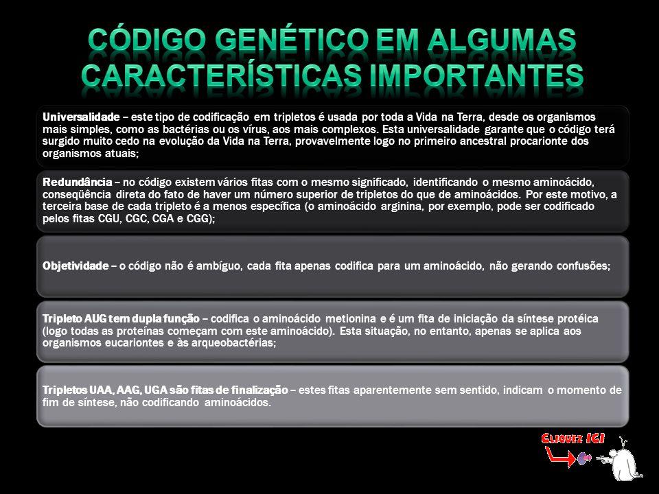 Código genético em algumas características importantes