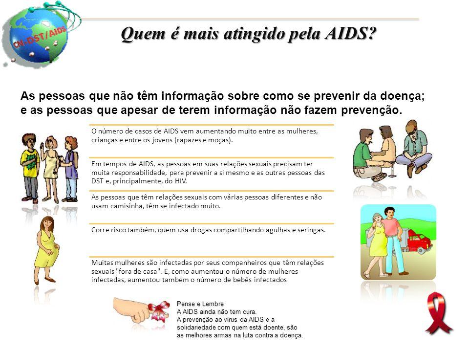 Quem é mais atingido pela AIDS