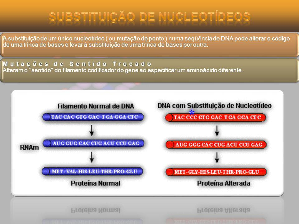 Substituição de Nucleotídeos
