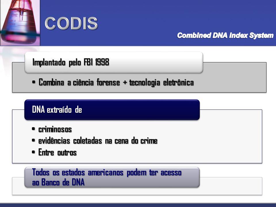 CODIS Implantado pelo FBI 1998
