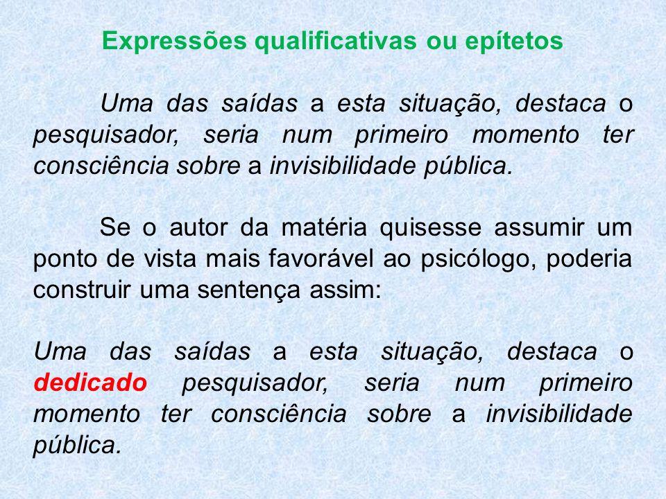 Expressões qualificativas ou epítetos