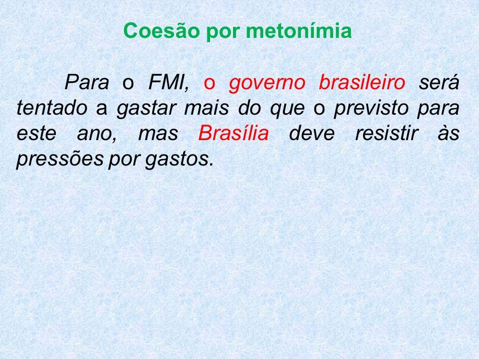 Coesão por metonímia