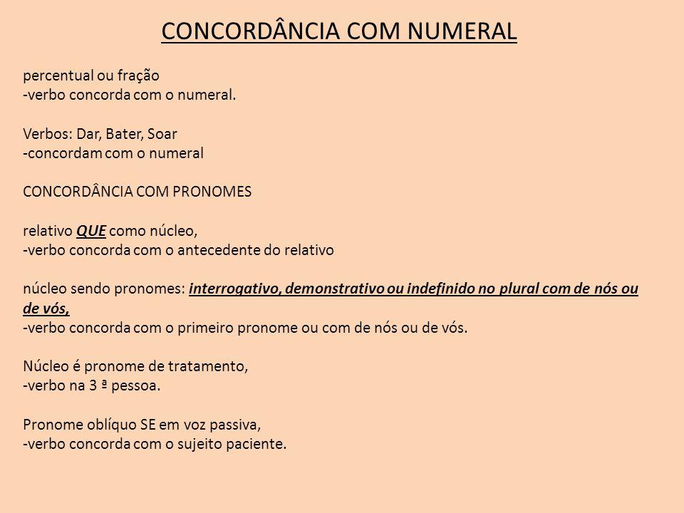 CONCORDÂNCIA COM NUMERAL