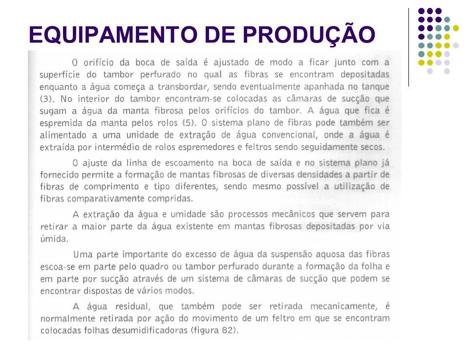EQUIPAMENTO DE PRODUÇÃO