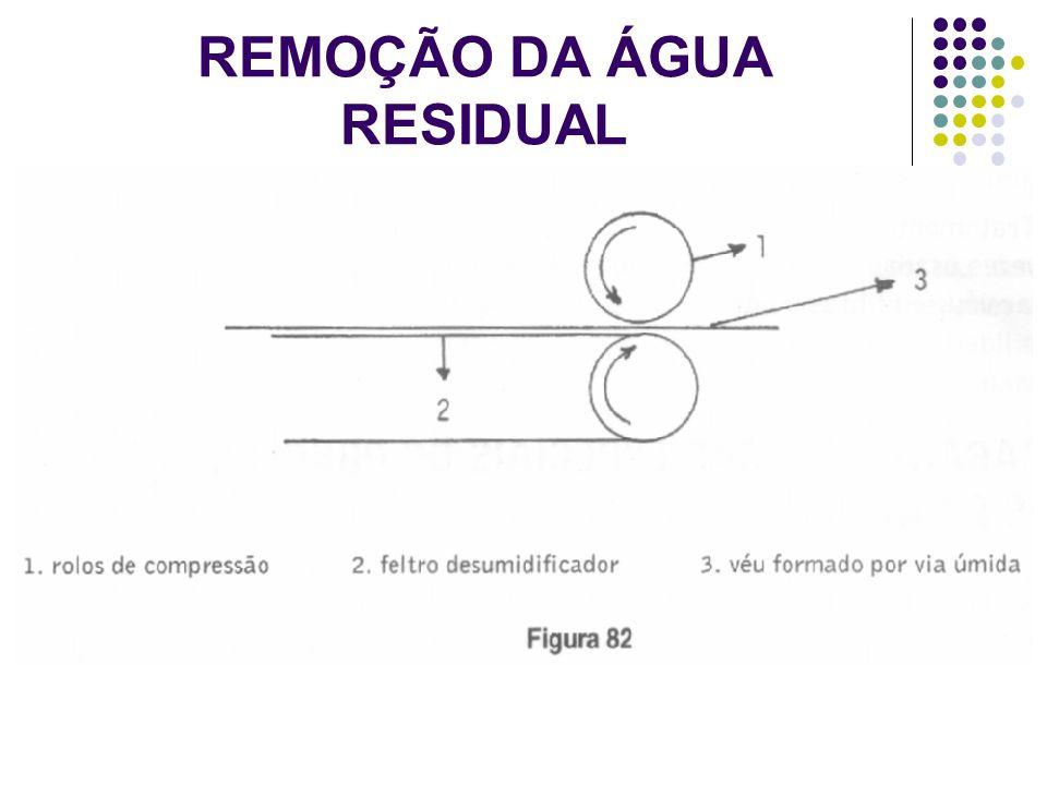 REMOÇÃO DA ÁGUA RESIDUAL