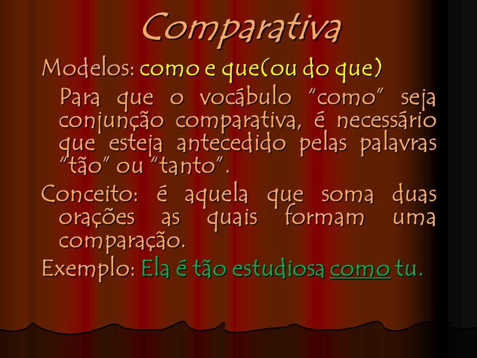 Comparativa Modelos: como e que(ou do que)