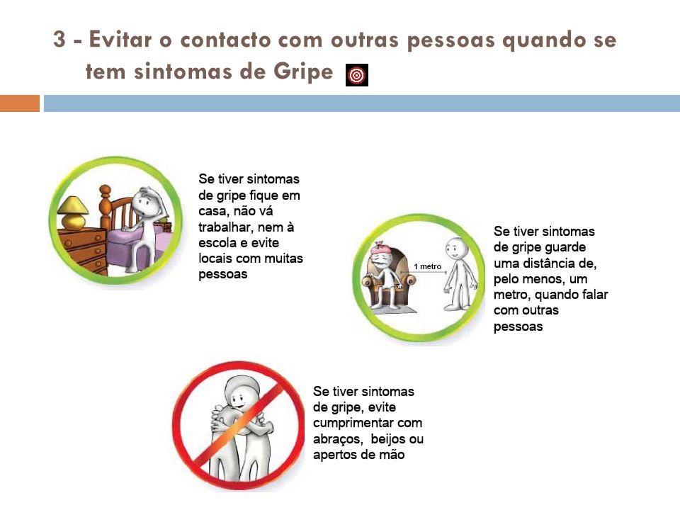 3 - Evitar o contacto com outras pessoas quando se tem sintomas de Gripe