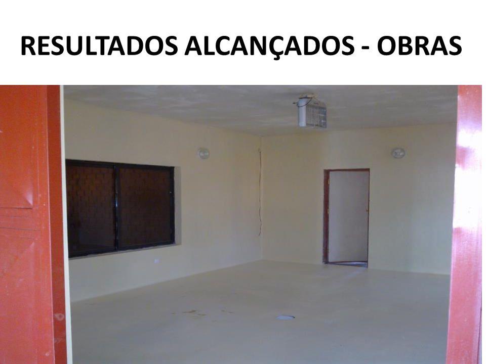 RESULTADOS ALCANÇADOS - OBRAS