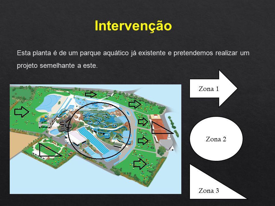 Intervenção Esta planta é de um parque aquático já existente e pretendemos realizar um projeto semelhante a este.