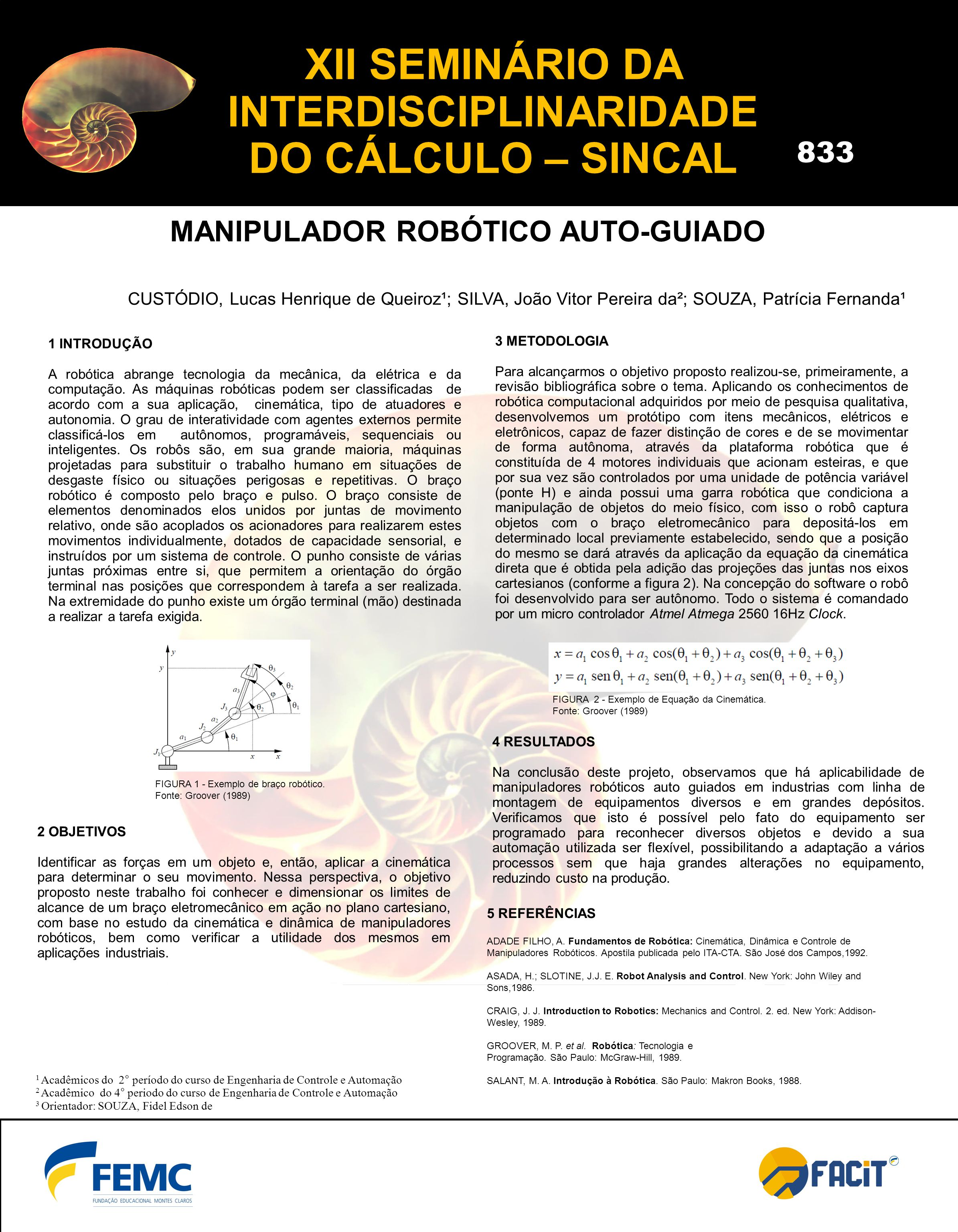 XII SEMINÁRIO DA INTERDISCIPLINARIDADE DO CÁLCULO – SINCAL