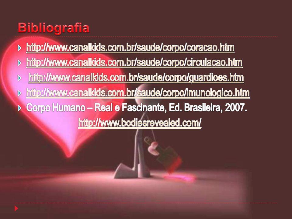 Bibliografia http://www.canalkids.com.br/saude/corpo/coracao.htm