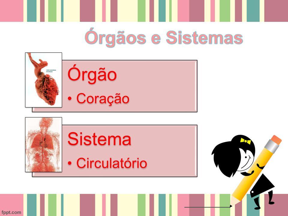 Órgãos e Sistemas Órgão Coração Sistema Circulatório