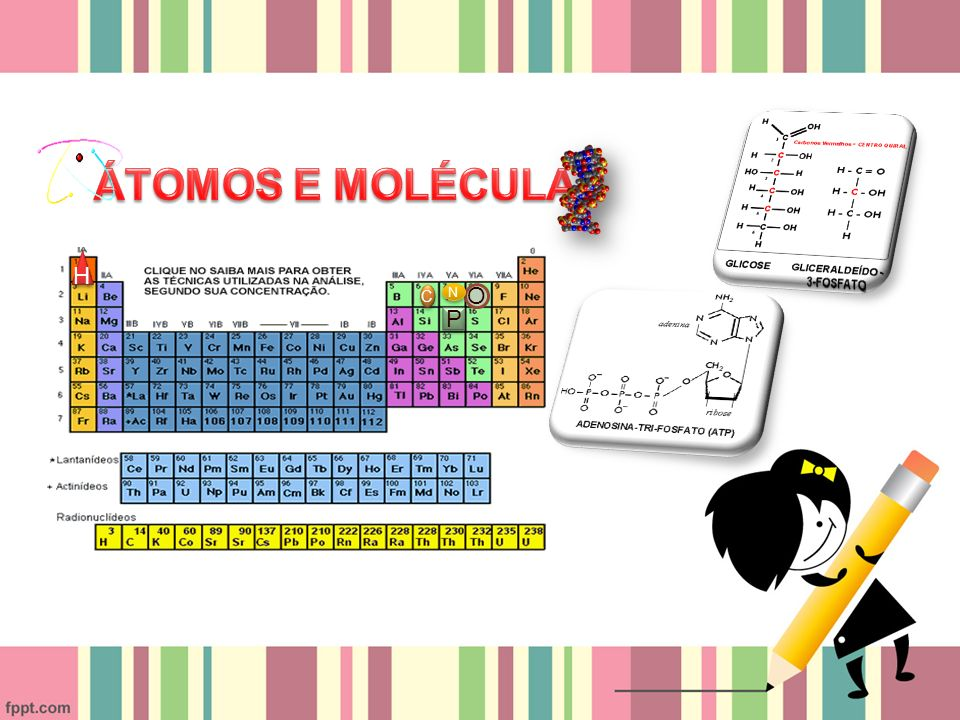 ÁTOMOS E MOLÉCULAS H C N O P