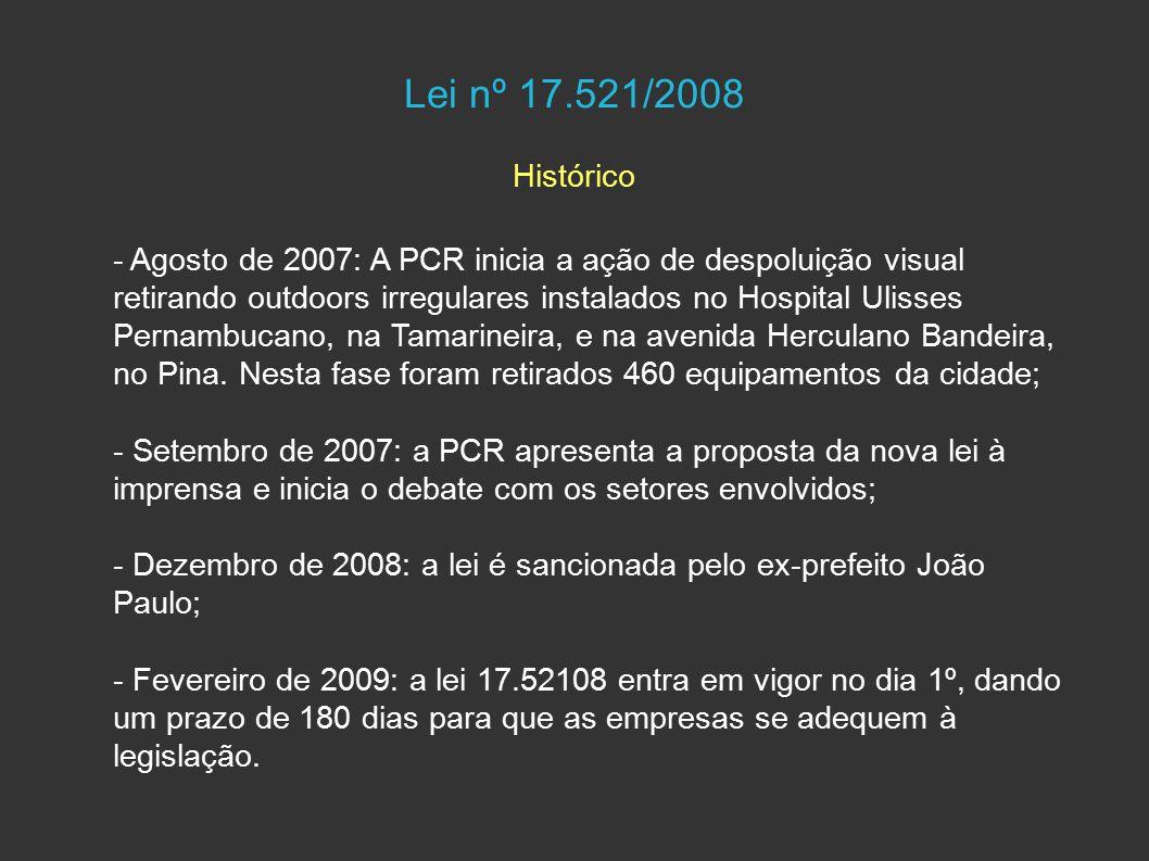 Lei nº 17.521/2008 Histórico.