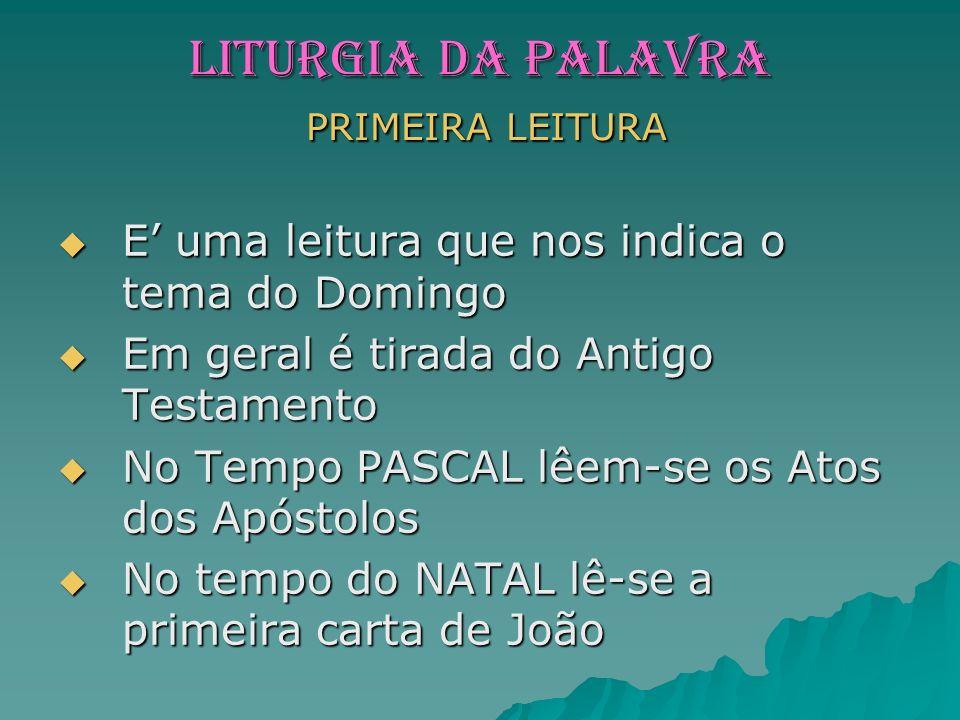 LITURGIA da PALAVRA PRIMEIRA LEITURA