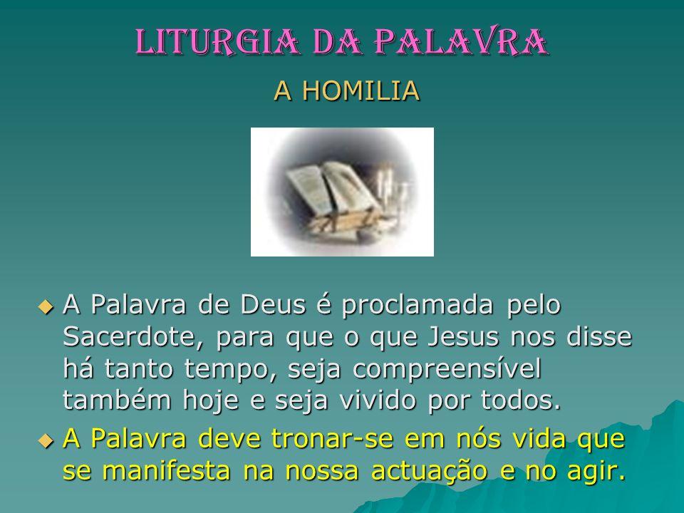 LITURGIA dA PaLaVRA A HOMILIA