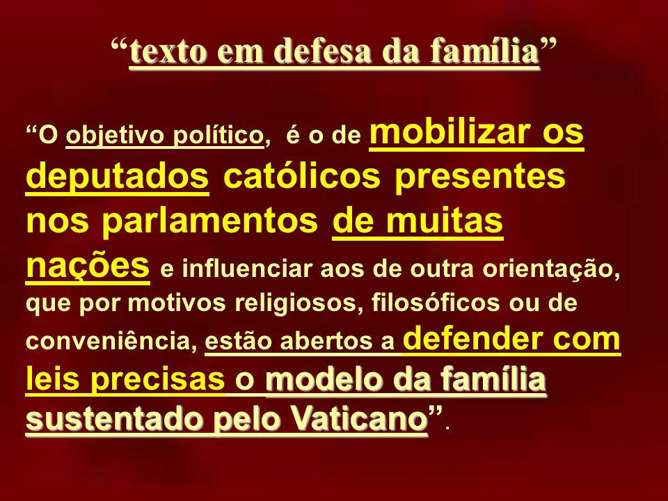 texto em defesa da família
