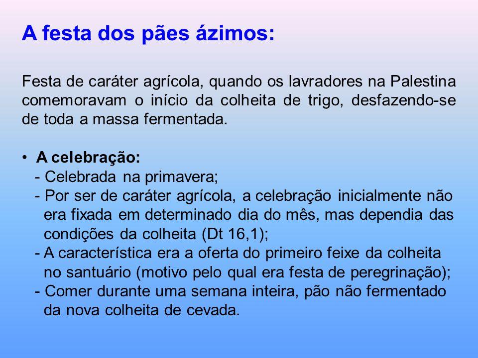 A festa dos pães ázimos: