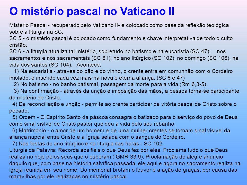 O mistério pascal no Vaticano II