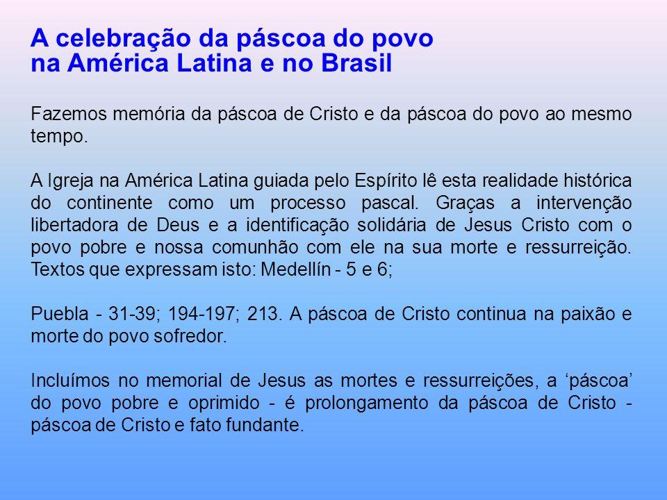 A celebração da páscoa do povo na América Latina e no Brasil