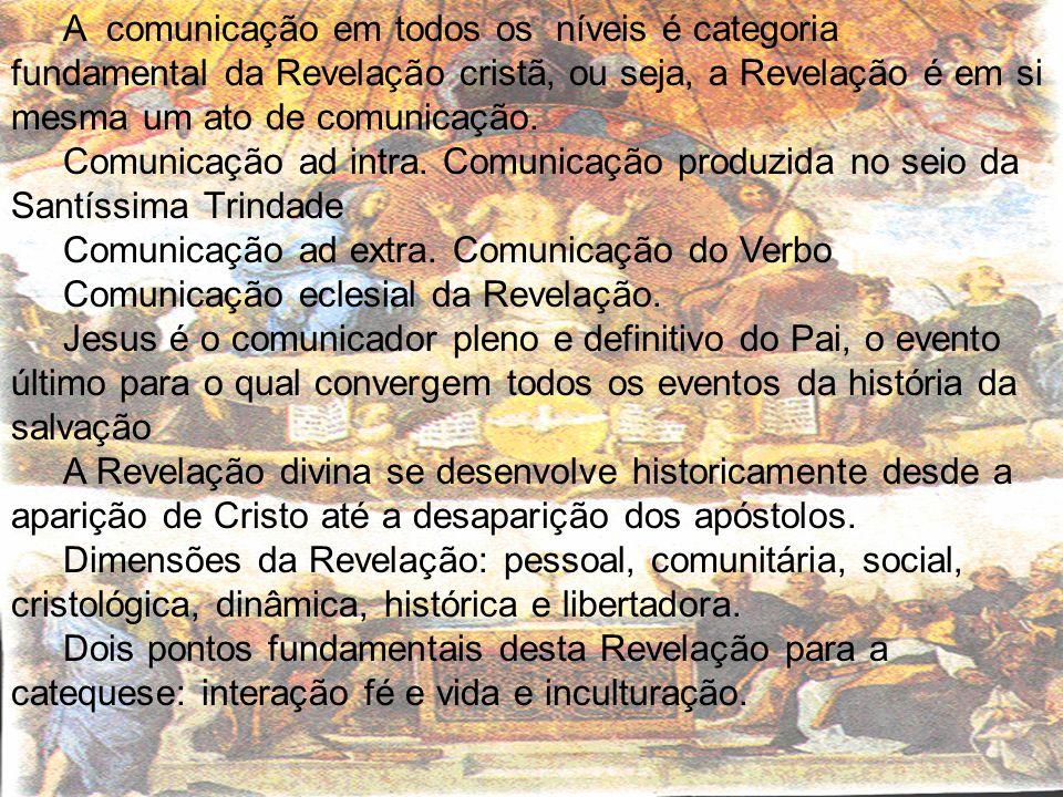 A comunicação em todos os níveis é categoria fundamental da Revelação cristã, ou seja, a Revelação é em si mesma um ato de comunicação.