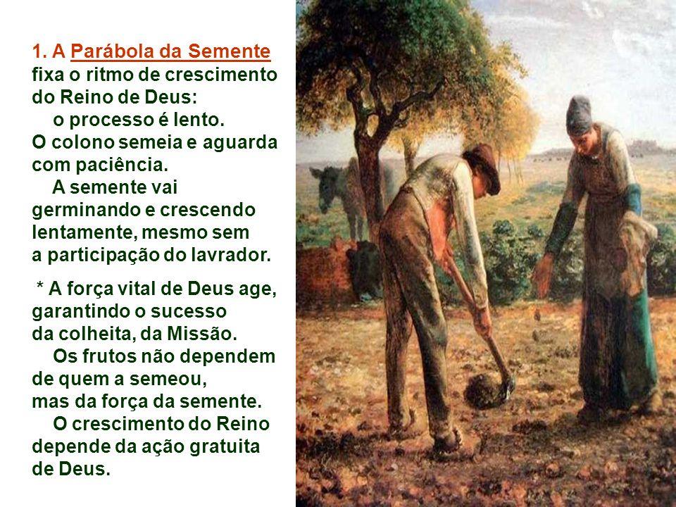 1. A Parábola da Semente fixa o ritmo de crescimento do Reino de Deus: