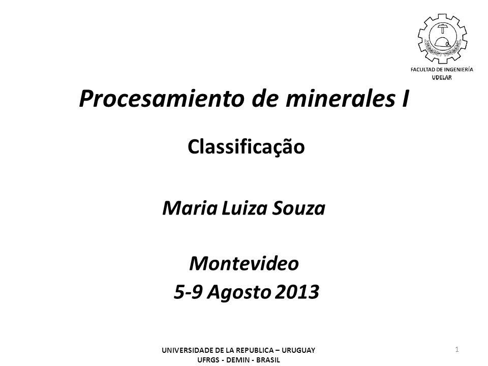 Procesamiento de minerales I Classificação