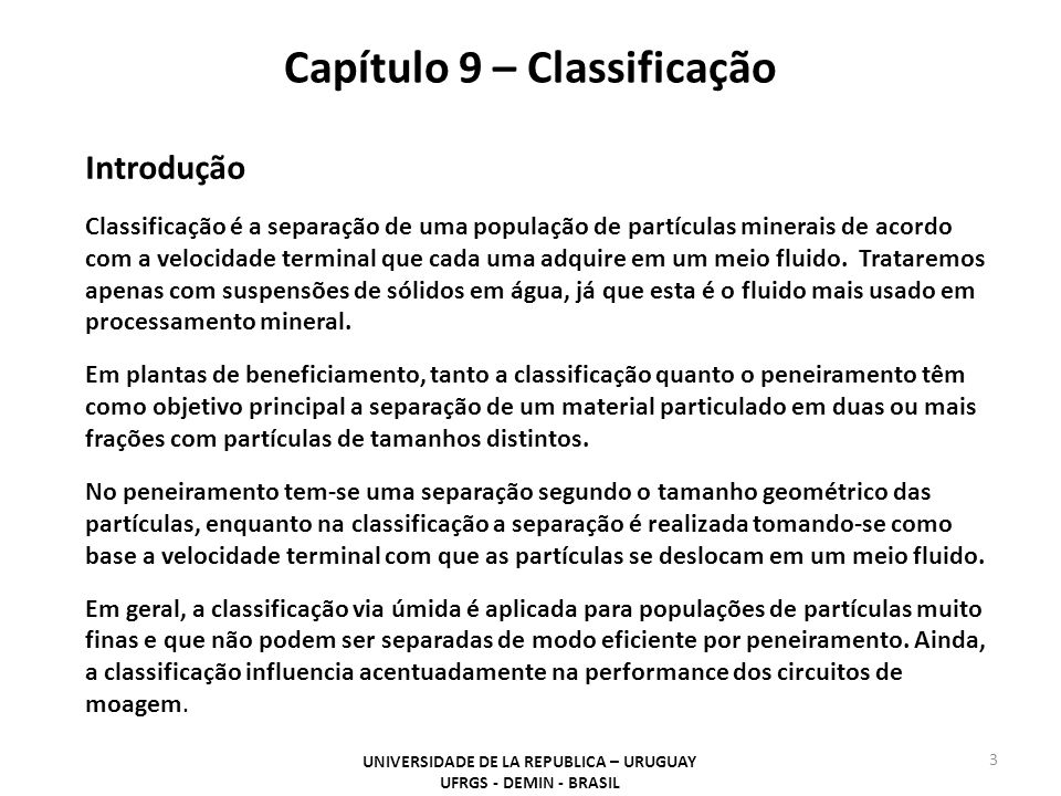 Capítulo 9 – Classificação