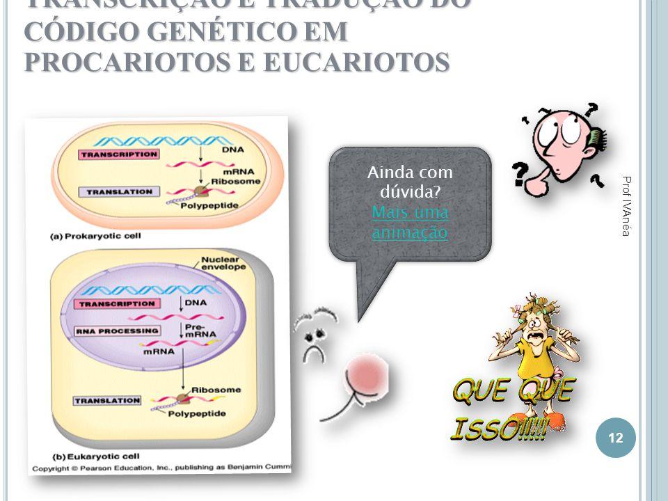 TRANSCRIÇÃO E TRADUÇÃO DO CÓDIGO GENÉTICO EM PROCARIOTOS E EUCARIOTOS