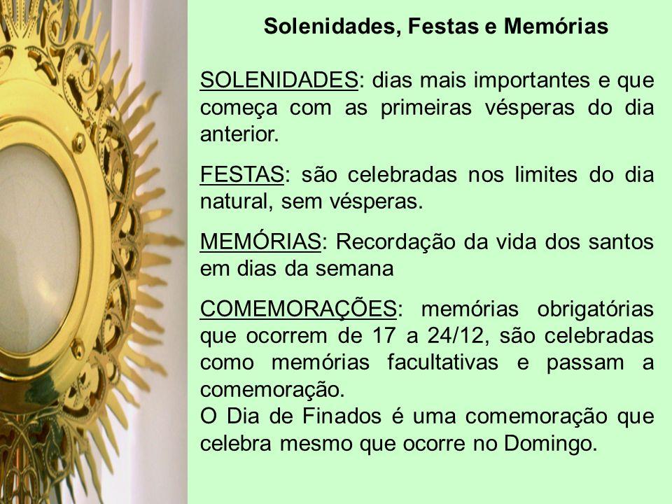 Solenidades, Festas e Memórias