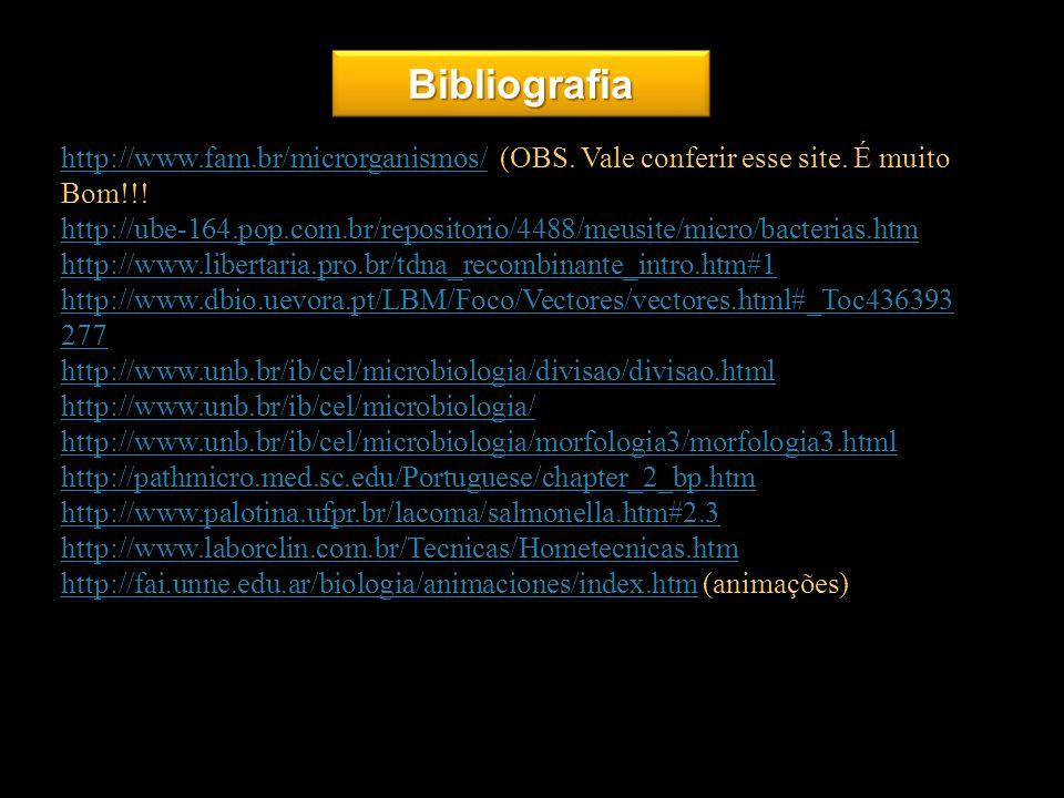 Bibliografiahttp://www.fam.br/microrganismos/ (OBS. Vale conferir esse site. É muito Bom!!!