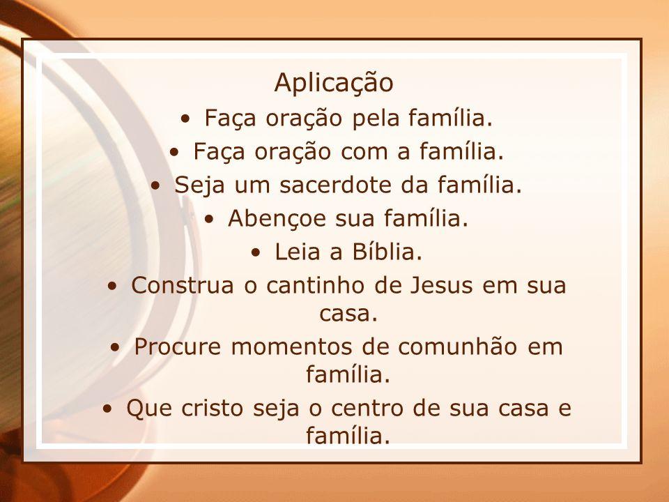 Aplicação Faça oração pela família. Faça oração com a família.