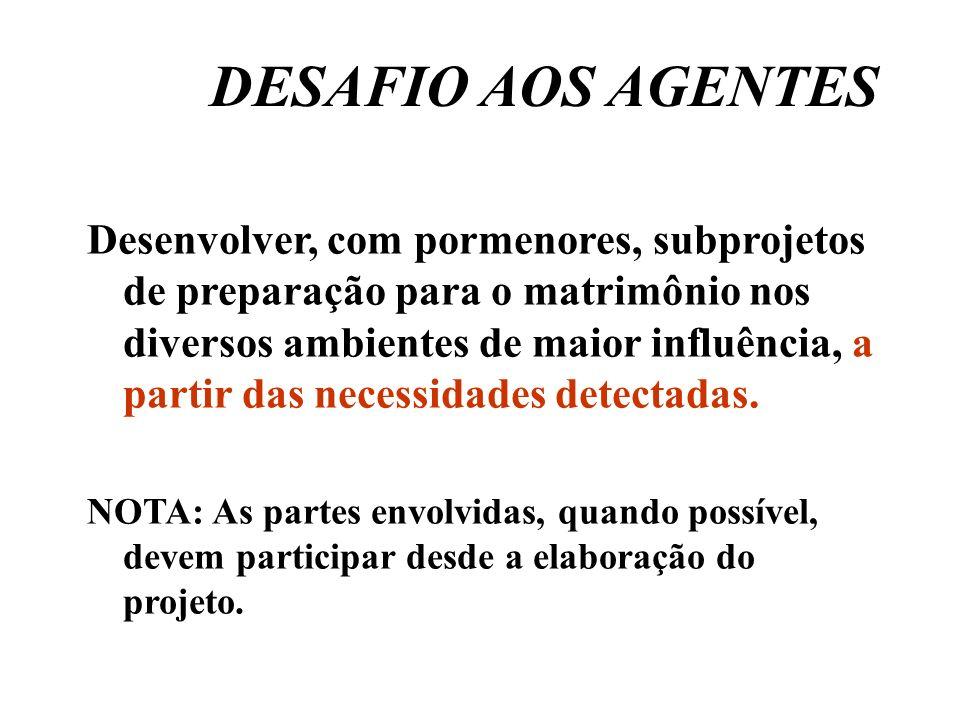 DESAFIO AOS AGENTES