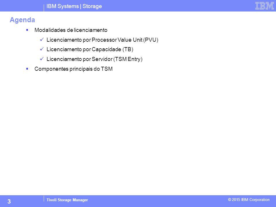 Agenda 3 IBM Systems | Storage Modalidades de licenciamento