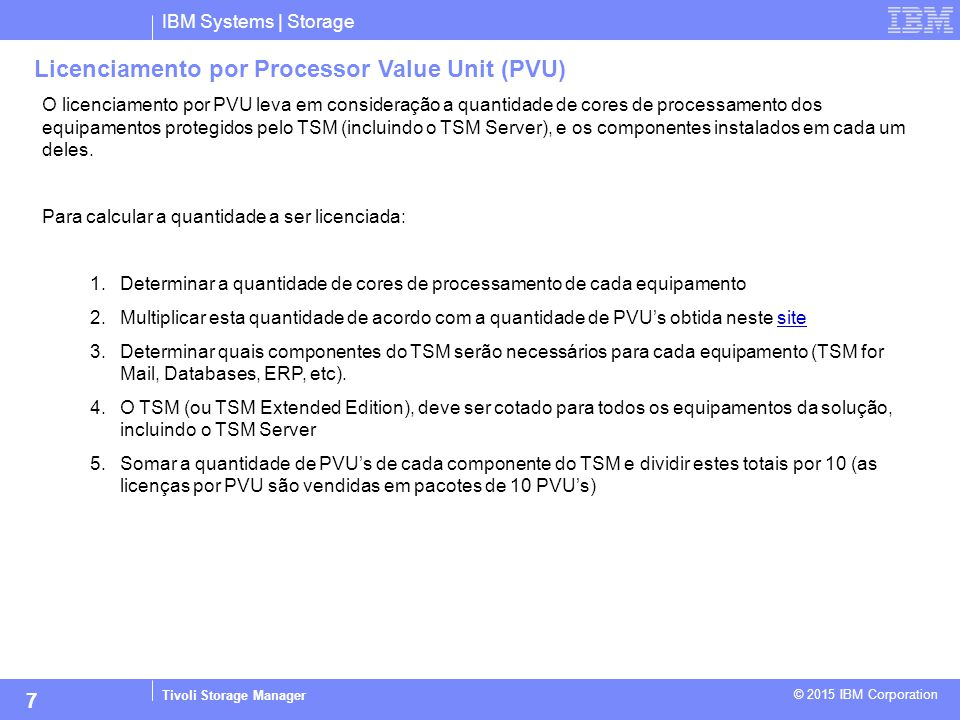 Licenciamento por Processor Value Unit (PVU)