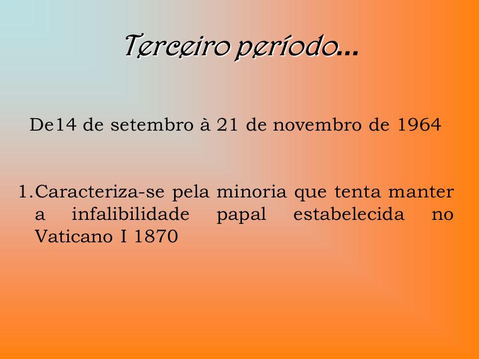 De14 de setembro à 21 de novembro de 1964