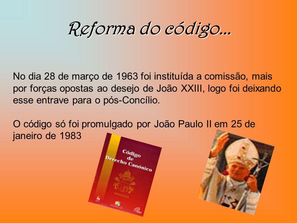 Reforma do código...