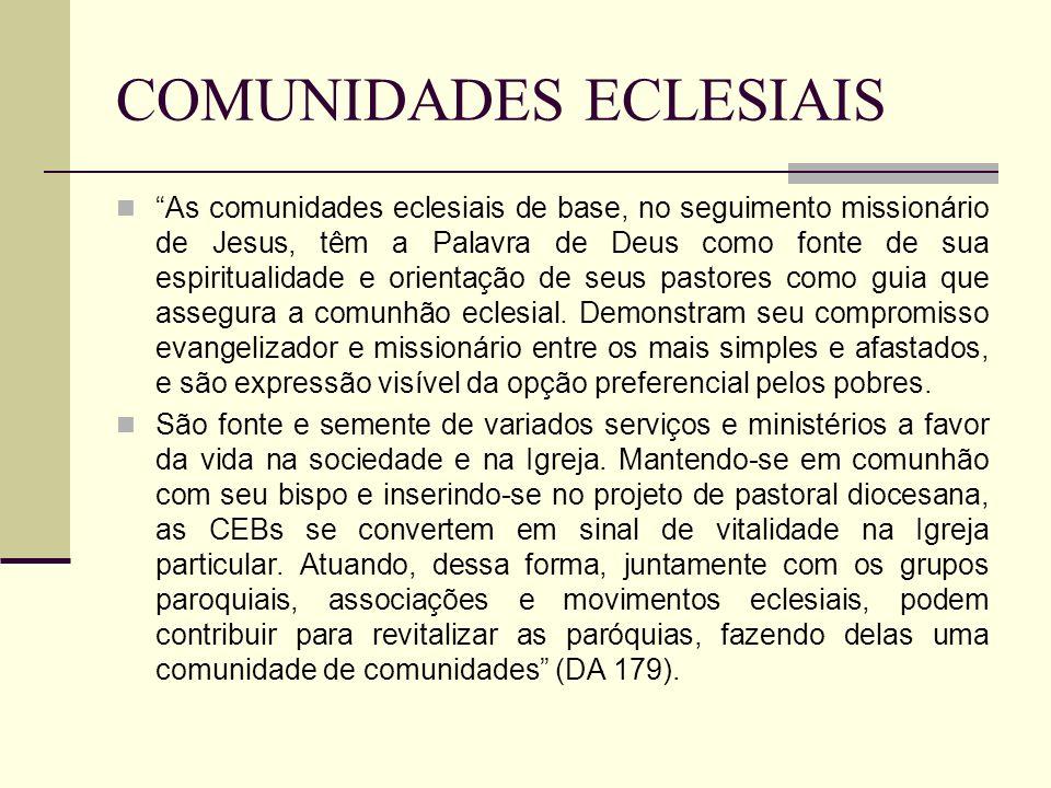 COMUNIDADES ECLESIAIS