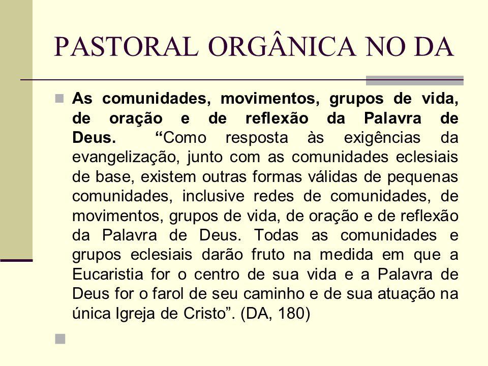 PASTORAL ORGÂNICA NO DA