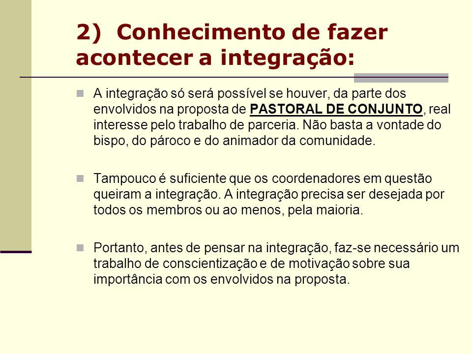 2) Conhecimento de fazer acontecer a integração: