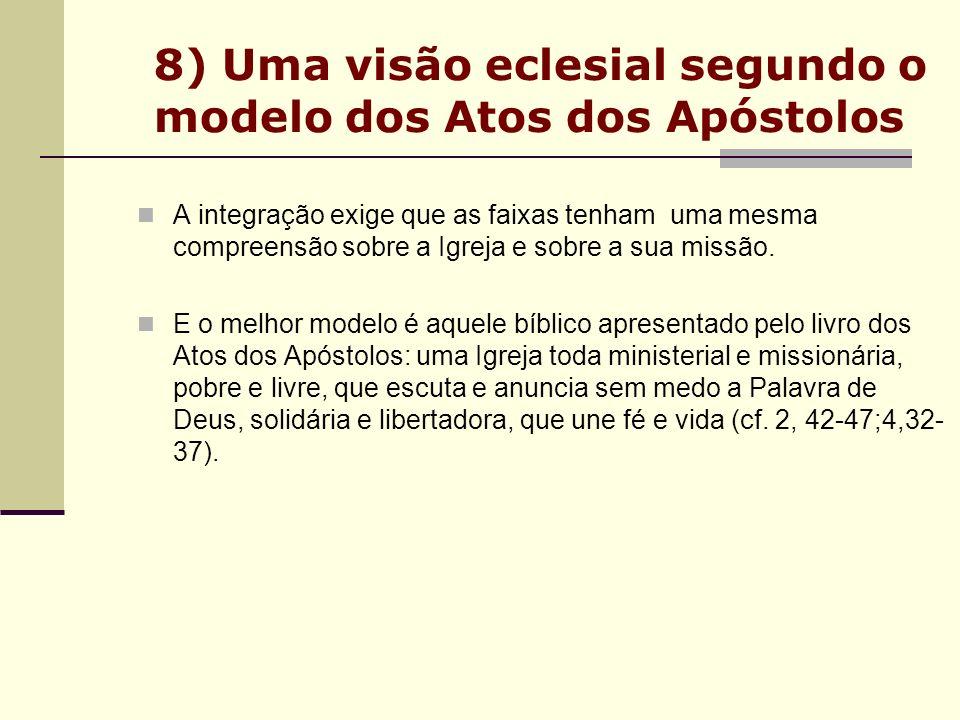 8) Uma visão eclesial segundo o modelo dos Atos dos Apóstolos