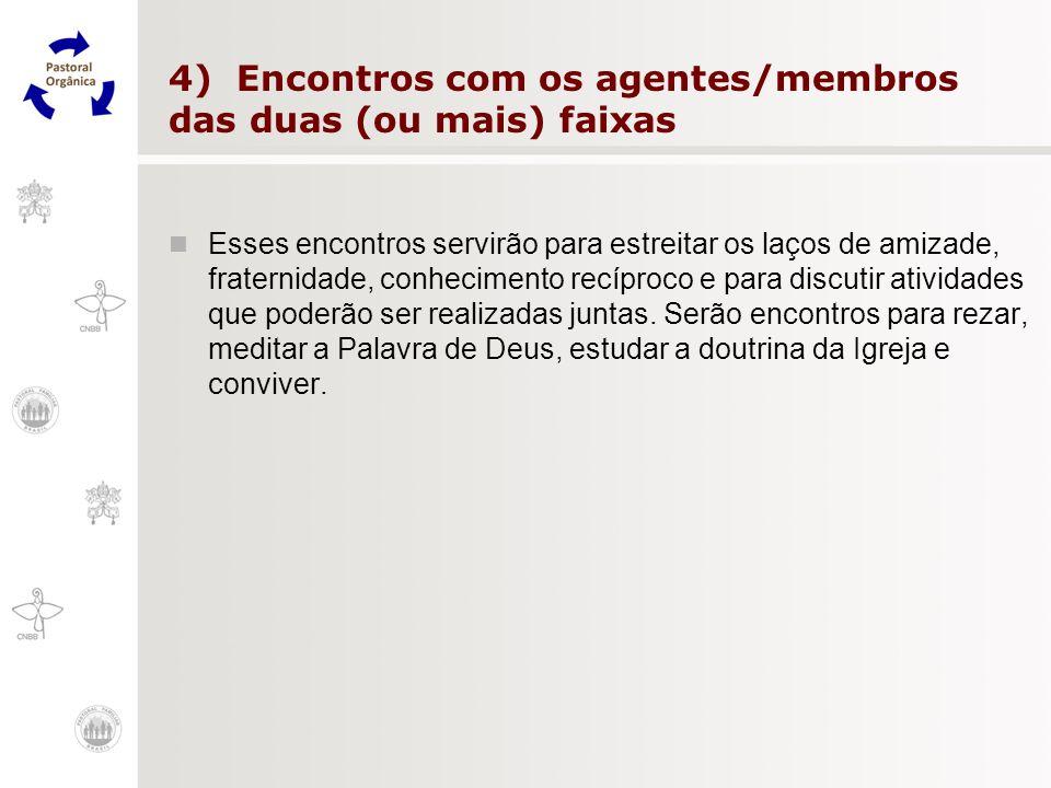 4) Encontros com os agentes/membros das duas (ou mais) faixas