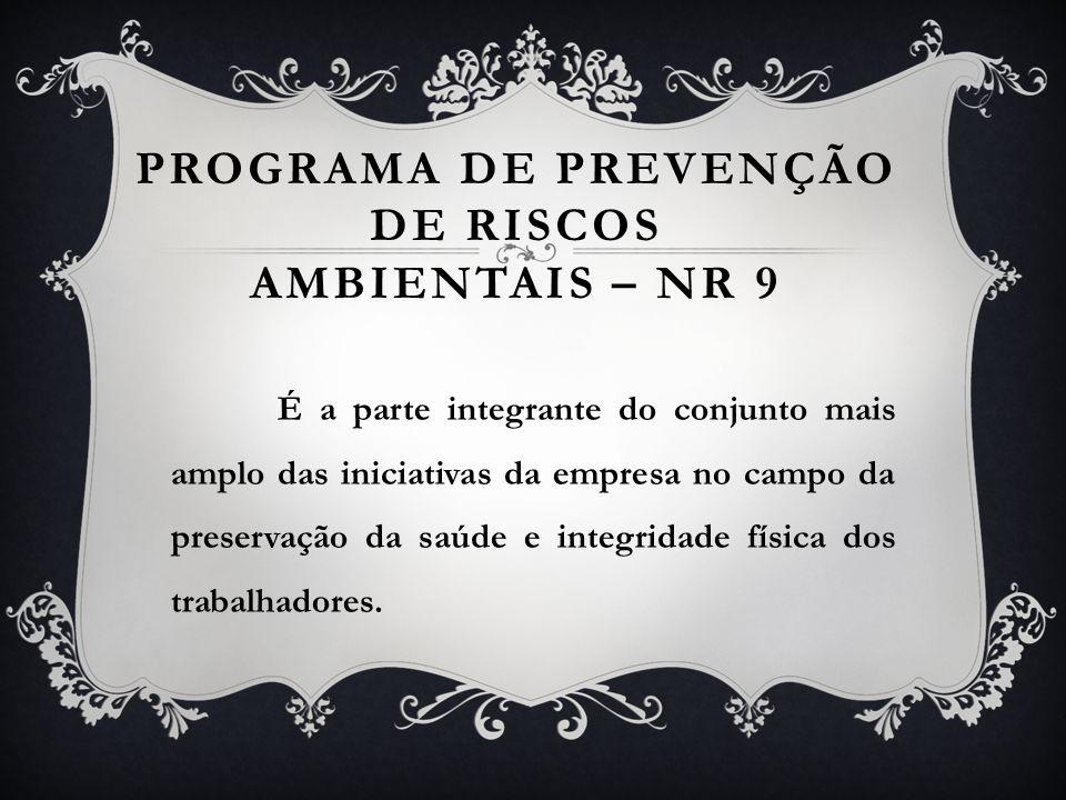 Programa de Prevenção de Riscos Ambientais – NR 9