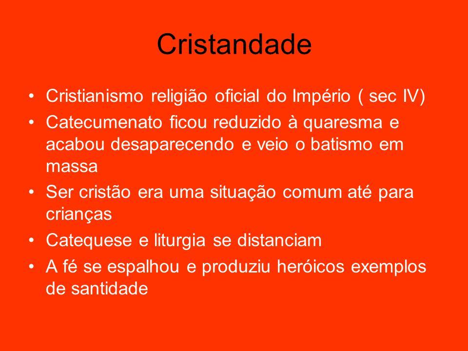 Cristandade Cristianismo religião oficial do Império ( sec IV)
