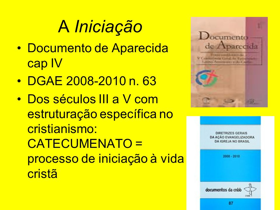 A Iniciação Documento de Aparecida cap IV DGAE 2008-2010 n. 63