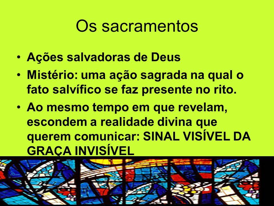 Os sacramentos Ações salvadoras de Deus