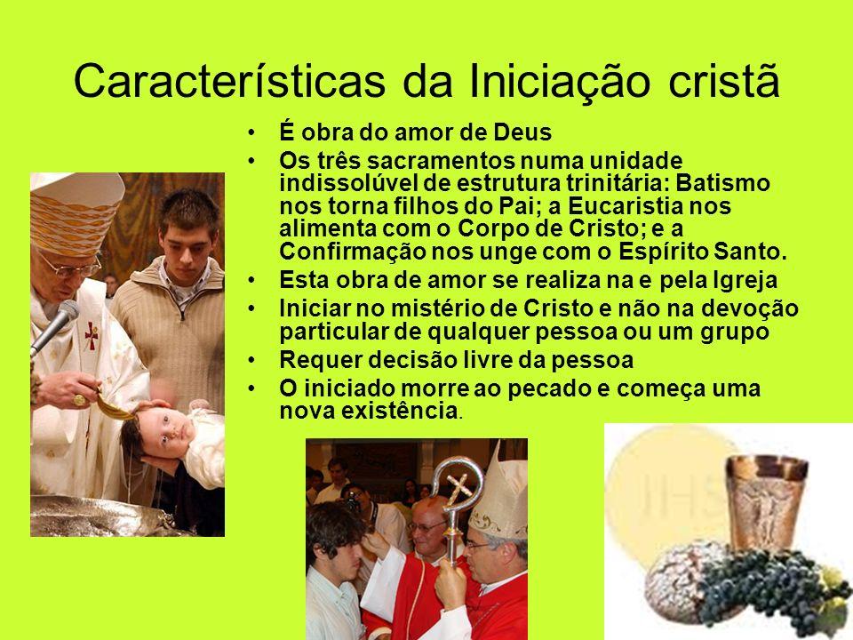 Características da Iniciação cristã