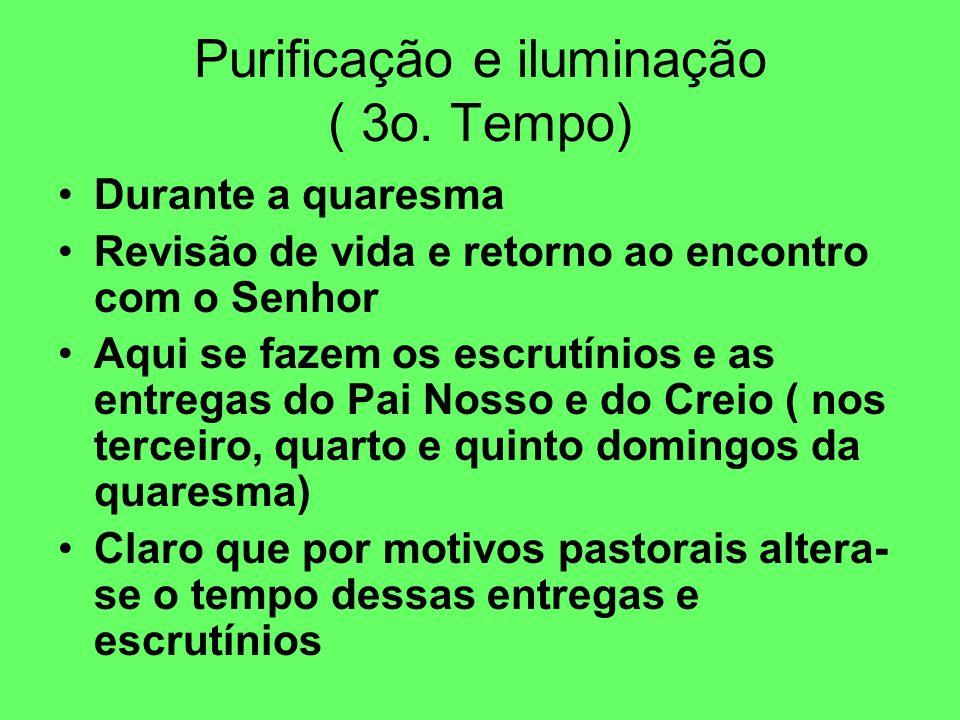 Purificação e iluminação ( 3o. Tempo)