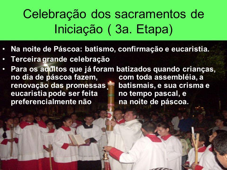 Celebração dos sacramentos de Iniciação ( 3a. Etapa)