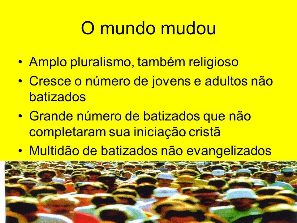 O mundo mudou Amplo pluralismo, também religioso